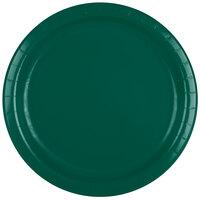Creative Converting 473124B 9 inch Hunter Green Paper Dinner Plate - 240/Case