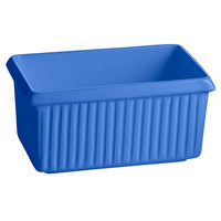 Tablecraft CW1510BL 2.25 Qt. Cobalt Blue Cast Aluminum Rectangle Server with Ridges