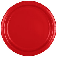 Creative Converting 471031B 9 inch Classic Red Paper Dinner Plate - 240/Case