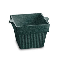 Tablecraft CW1460HGNS 1.5 Qt. Hunter Green with White Speckle Cast Aluminum Square Condiment Bowl