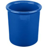 Tablecraft CW1670BL 1 Qt. Cobalt Blue Cast Aluminum Condiment Bowl