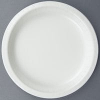 Creative Converting 47000B 9 inch White Paper Dinner Plate - 240/Case