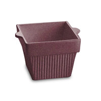Tablecraft CW1460MAS 1.5 Qt. Maroon Speckle Cast Aluminum Square Condiment Bowl