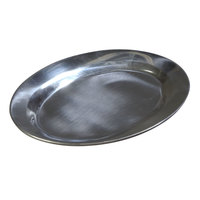 7 inch x 10 1/2 inch Oval Aluminum Sizzler Platter