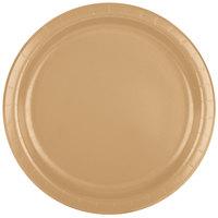 Creative Converting 47103B 9 inch Glittering Gold Paper Plate - 240 / Case
