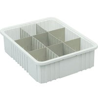 Short Metro MDS93060N Gray Tote Box Divider - 18 inch x 6 inch