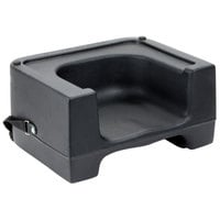 Carlisle 7111-403 Black Plastic Booster Seat with Safety Strap - Dual Height