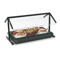 Carlisle 972003 Black Adjustable Double Sneeze Guard for Five Star Buffet Bars – 48 inch x 29 1/8 inch