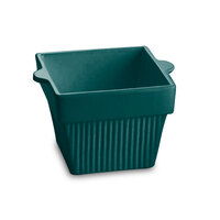 Tablecraft CW1460HGN 1.5 Qt. Hunter Green Cast Aluminum Square Condiment Bowl