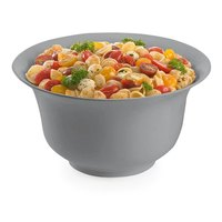 Tablecraft CW3130N 3.25 Qt. Natural Cast Aluminum Tulip Salad Bowl