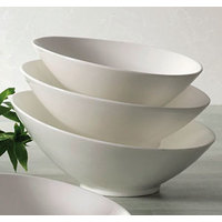 CAC SHER-B6 Sheer 8 oz. Bone White Porcelain Salad Bowl - 36 / Case