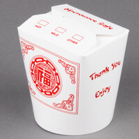 SmartServ 16SSPRINTM 16 oz. Printed Chinese / Asian Microwavable Paper Take-Out Container - 25 / Pack