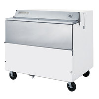 Beverage Air SMF49Y-1-W White Forced Air Milk Cooler 1 Sided - 49 inch