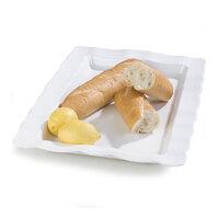 Carlisle 794802 24 1/2 inch x 18 1/2 inch White Rectangular Large Scalloped Tray 4 / Case
