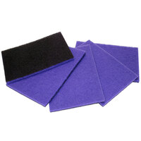 Pacific 855906 14 inch x 20 inch Purple Rectangular Diamond Stone / Concrete Cleaning Floor Pad - 5/Case
