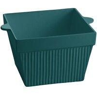 Tablecraft CW1490HGN 6.5 Qt. Hunter Green Cast Aluminum Square Bowl