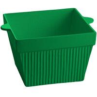 Tablecraft CW1490GN 6.5 Qt. Green Cast Aluminum Square Bowl
