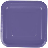 Creative Converting 453268 7 inch Purple Square Paper Plate - 180/Case