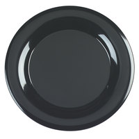 Carlisle 4440603 Palette Designer Displayware Black 19 inch Melamine Wide Rim Round Platter - 4 / Pack