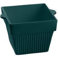 Tablecraft CW1480HGN 18 oz. Hunter Green Cast Aluminum Square Condiment Bowl