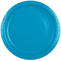 Creative Converting 503131B 10 inch Turquoise Paper Banquet Plate - 240/Case