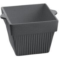 Tablecraft CW1480GR 18 oz. Granite Cast Aluminum Square Condiment Bowl