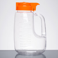 Tablecraft L48X Option 48 oz. Dispenser Jar with Orange Top