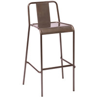 BFM Seating DV380CL Tara Stackable Steel Bar Height Chair