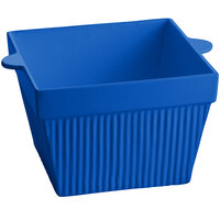 Tablecraft CW1490BL 6.5 Qt. Cobalt Blue Cast Aluminum Square Bowl