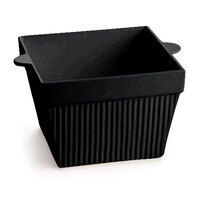 Tablecraft CW1480BK 18 oz. Black Cast Aluminum Square Condiment Bowl