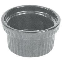 Tablecraft CW1610GR 10.5 oz. Granite Cast Aluminum Souffle Bowl with Ridges