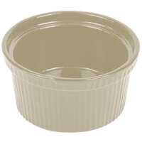 Tablecraft CW1620IV 1 Qt. Ivory Cast Aluminum Souffle Bowl with Ridges