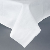 54 inch x 54 inch White Tissue / Poly Table Cover - 50 / Case