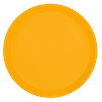 Cambro 1000504 10 inch Round Mustard Fiberglass Camtray - 12 / Case