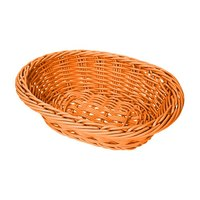 GET WB-1503-OR 9 inch x 6 3/4 inch x 2 1/2 inch Designer Polyweave Orange Oval Basket - 12/Case