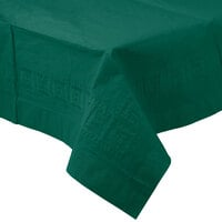 Creative Converting 713124 54 inch x 108 inch Hunter Green Tissue / Poly Table Cover - 24 / Case
