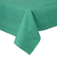 Creative Converting 713124 54 inch x 108 inch Hunter Green Tissue / Poly Table Cover - 6/Pack