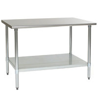 Eagle Group T2448B 24 inch x 48 inch Stainless Steel Work Table with Galvanized Undershelf
