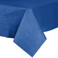 54 inch x 54 inch Navy Blue Tissue / Poly Table Cover - 50/Case