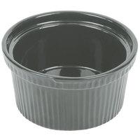 Tablecraft CW1620GY 1 Qt. Gray Cast Aluminum Souffle Bowl with Ridges