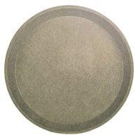 Cambro 1000104 10 inch Round Desert Tan Fiberglass Camtray - 12/Case