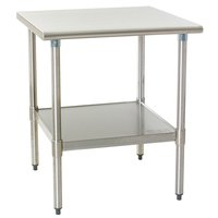 Eagle Group T2430SEB 24 inch x 30 inch Stainless Steel Deluxe Work Table with Stainless Steel Undershelf
