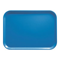 Cambro 1014105 10 5/8 inch x 13 3/4 inch Rectangular Horizon Blue Fiberglass Camtray - 12/Case