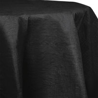 Creative Converting 923260 82 inch Black Velvet OctyRound Tissue / Poly Table Cover - 12 / Case