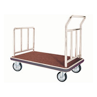 Aarco Stainless Steel Chrome Finish Luggage Cart - 42 inch x 24 inch x 36 inch