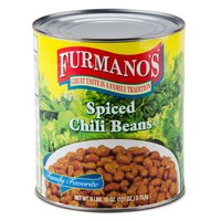 Furmano's #10 Can Spiced Chili Beans - 6/Case