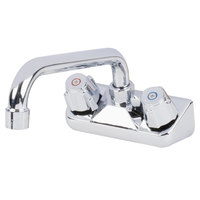 Regency Low Lead Wall Mount Bar Sink Faucet with 4 inch Centers and 8 inch Swing Spout