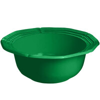 Tablecraft CW6210GN 5 Qt. Green Cast Aluminum Queen Anne Salad Bowl