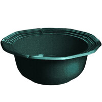 Tablecraft CW6210HGNS 5 Qt. Hunter Green with White Speckle Cast Aluminum Queen Anne Salad Bowl