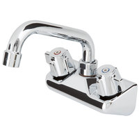 Regency Low Lead Wall Mount Bar Sink Faucet with 4 inch Centers and 6 inch Swing Spout